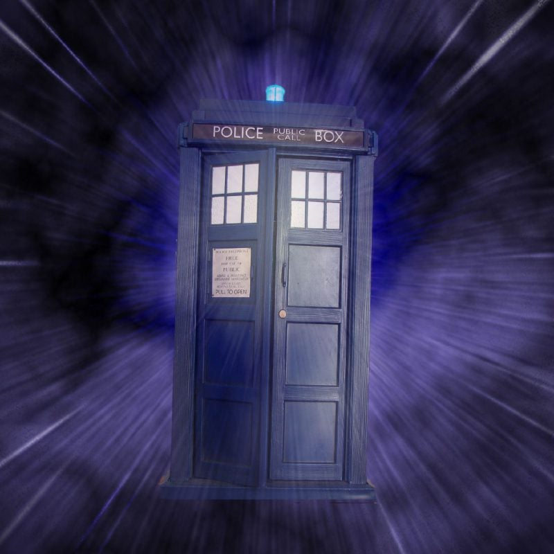 The Tardis police box from Doctor Wgo