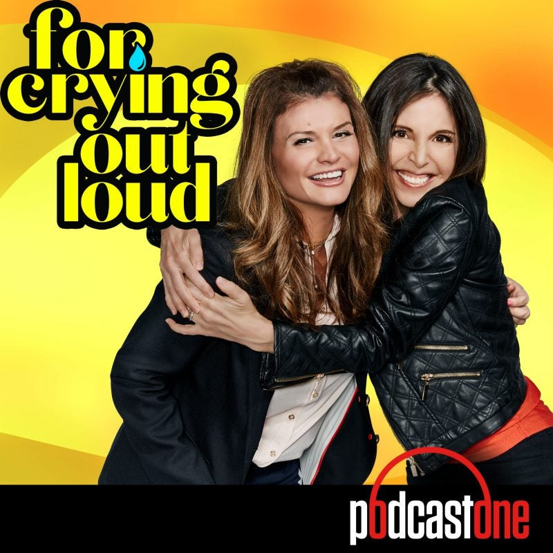 For Crying Out Loud podcast hosts Lynette Carolla and Stefanie Wilder-Taylor hugging