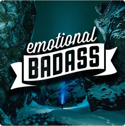Promotional image for the Emotional Badass podcast