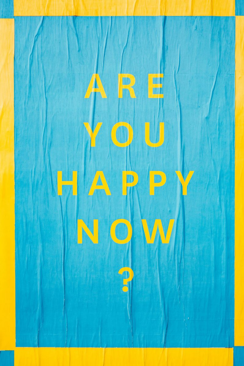 Are you happy now art