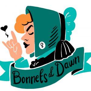 Bonnets at Dawn podcast promotional image