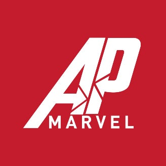 The official logo of the Marvel podcast, AP Marvel, made by Charles Villanueva.