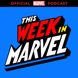 The logo for This Week in Marvel, part of the Marvel Studios family.