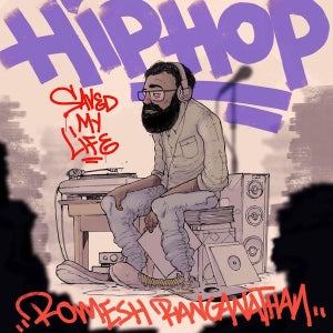 Hip-Hop Saved My Life's logo features a cartoon version of its host, Romesh Ranganathan.