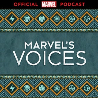 The official logo of Marvel's Voices.