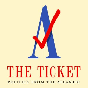 The logo for the Atlantic's podcast, The Ticket.