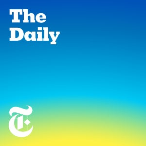 The logo of the New York Times political campaign podcast, The Daily.