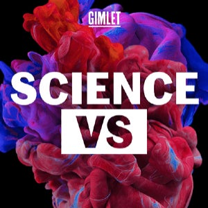 The logo of Science Vs. features a red and blue background behind the logo.