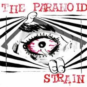 The official logo for The Paranoid Strain features a reddened eye looking through some blinds.