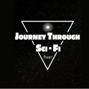 The logo of Journey Through Sci-Fi puts the moniker in space.